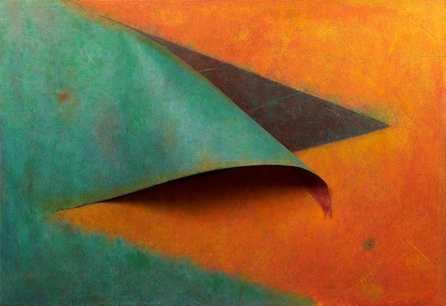 Herbert Ferber (American, 1906-1991) Ancram, 1980 62 x 93 x 12in (157.5 x 236.2 x 30.5cm)