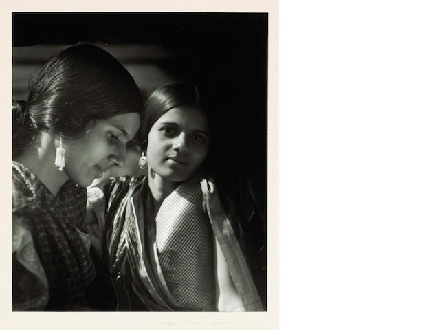 Imogen Cunningham (American, 1883-1976); Two Indian Women in Saris;