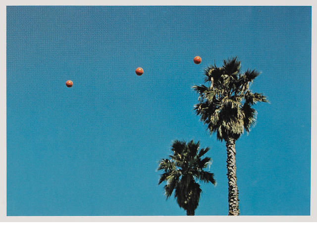 John Baldessari (American, born 1931); Throwing Three Balls to Get a Straight Line (Best of Thirty-Six Attempts);