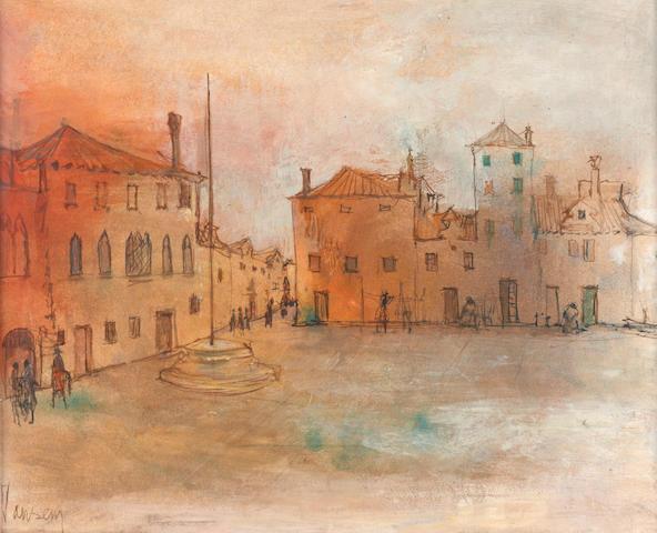 Jean Jansem (French, born 1920) Paysage de Burano, 1966 19 3/4 x 25 3/4in (50.2 x 65.4cm)