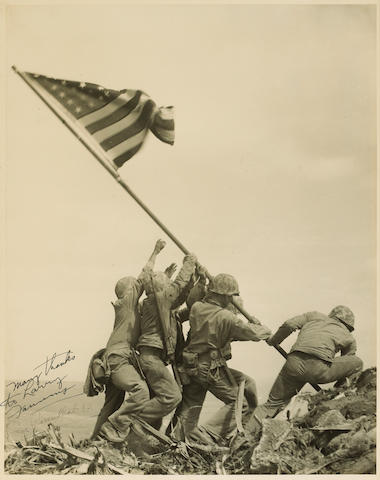 Joe Rosenthal (American, 1911-2006); Flag Raising on Mt. Surbachi, Iwo Jima;