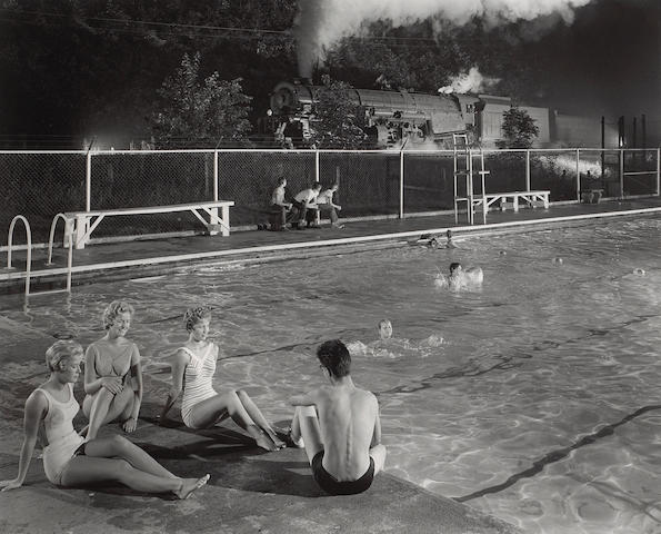 O. Winston Link (American, 1914-2000); Swimming Pool, Welch, West Virginia;