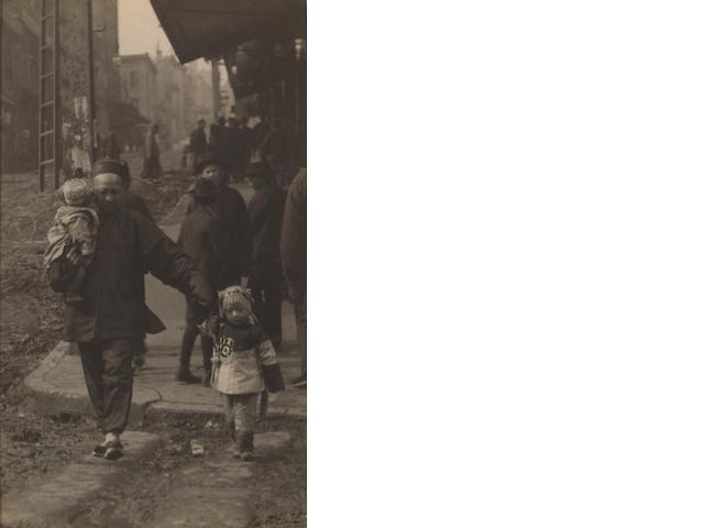 Arnold Genthe (German, 1869-1942); A Corner on the Hillside, Chinatown, San Francisco;