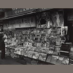 Berenice Abbott (American, 1898-1991); Newsstand, 32nd Street and 3rd Avenue, Manhattan;