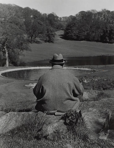 Philippe Halsman (American, 1906-1979); Winston Churchill Seated while Painting;