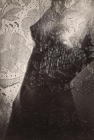 Josef Ehm (Czech, 1909-1989); Torso (Nude behind Lace Curtain);