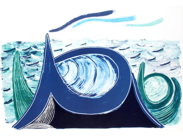 David Hockney (British, born 1937); The Wave;