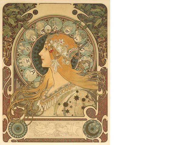 Alphonse Mucha (Czech, 1860-1939); Zodiac;