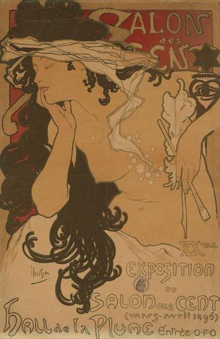 Alphonse Mucha (Czech, 1860-1939); Salon des Cent;