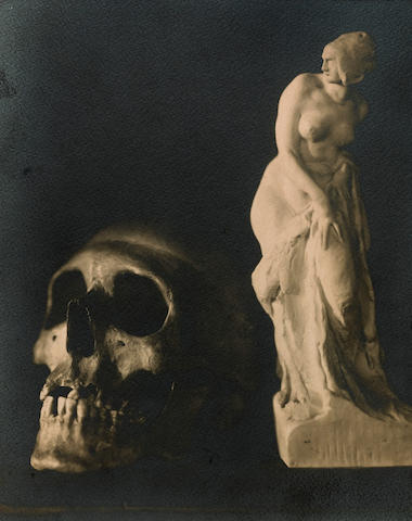 František Drtikol (Czech, 1883-1961); Still life with Skull;