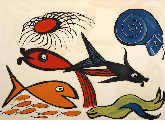 Alexander Calder (American, 1898-1976); Untitled (Sea Creatures), from Our Unfinished Revolution;