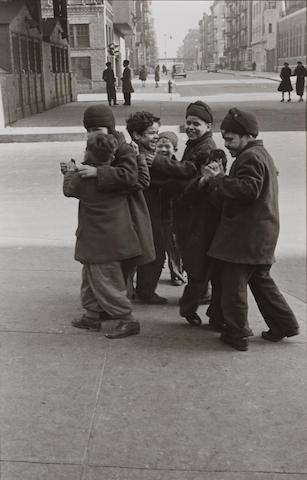 Helen Levitt (American, born 1918); New York City (Boys in Coats Dancing);