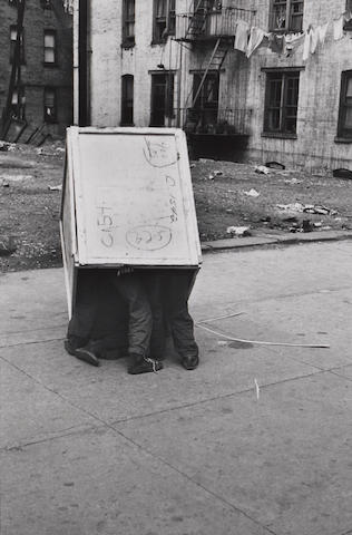 Helen Levitt (American, born 1918); New York City (Three Boys in Box);