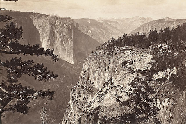 Carleton E. Watkins (American, 1829-1916); First View of the Yosemite Valley from the Mariposa Trail;