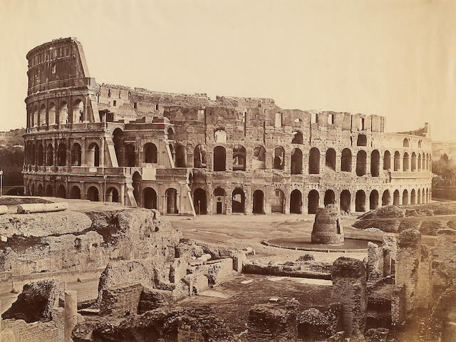 Attributed to Tommaso Cuccioni (Italian, c. 1790-1864); The Colosseum, Rome;