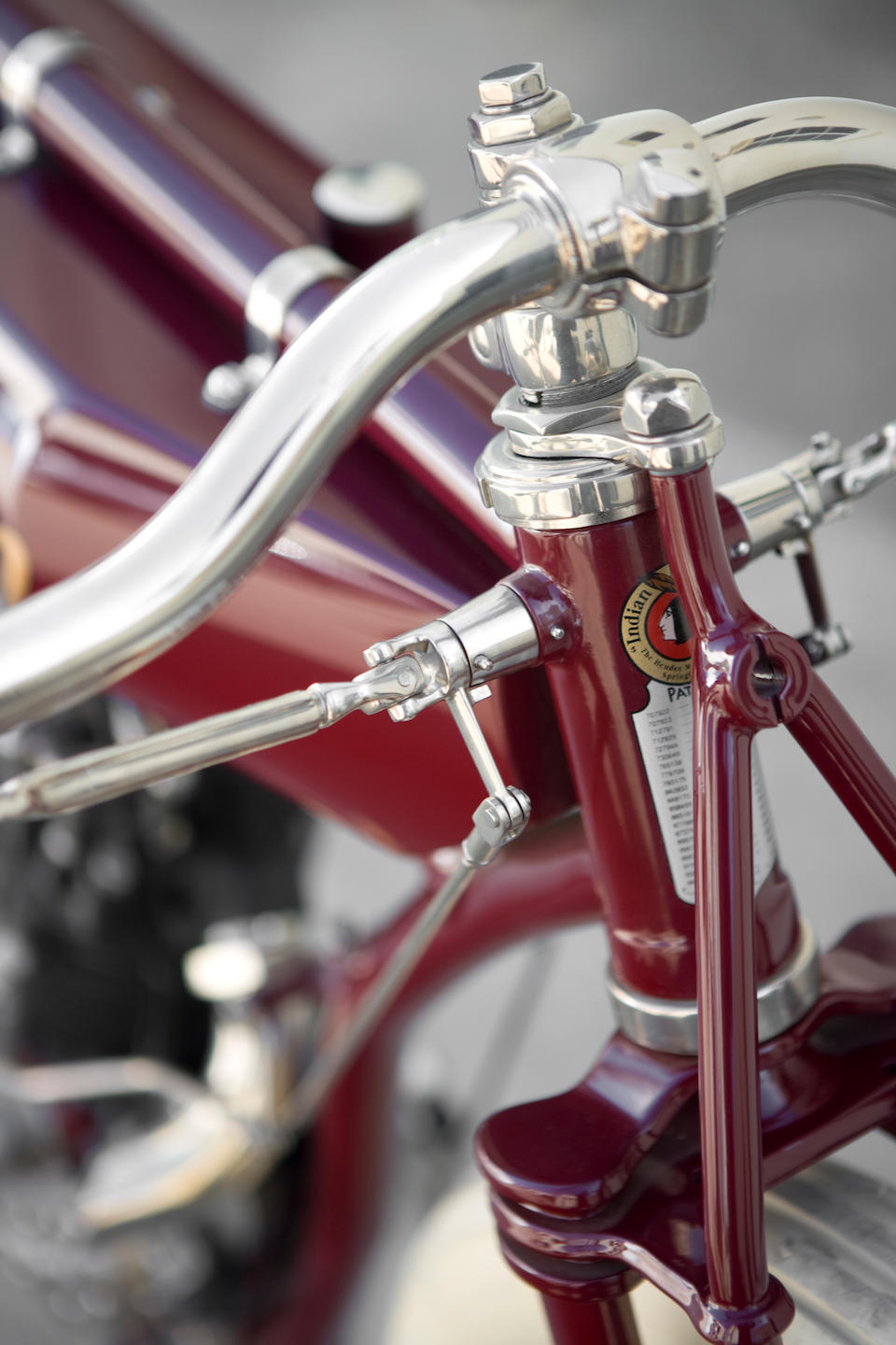 Featured in the Guggenheim's 'The Art of the Motorcycle' exhibit,1914 Indian 8-Valve Racing Motorcycle Engine no. 74E674
