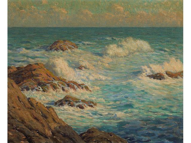 Granville S. Redmond (American, 1871-1935) Coastal Scene 16 x 20in