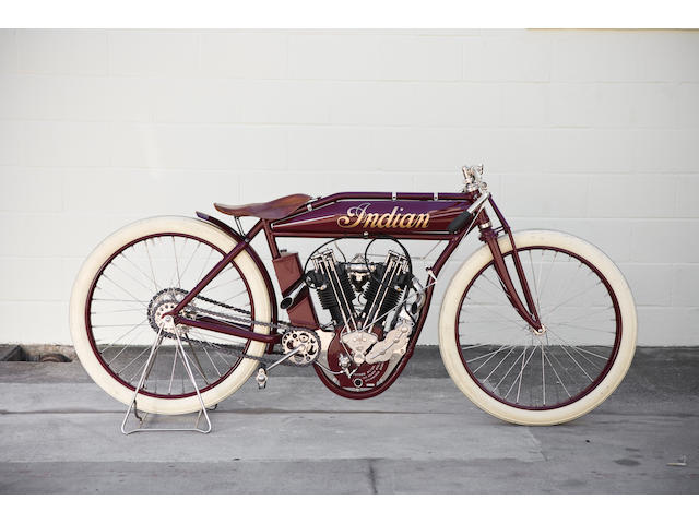 "Featured in the Gugenheim's ""The Art of the Motorcycle' exhibit,1914 Indian 8-Valve Racing Motorcycl"