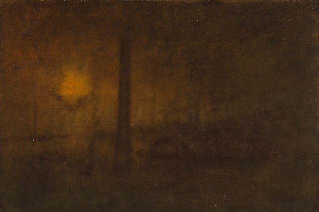 George Inness (American, 1825-1894) Sun Glow 20 x 30in