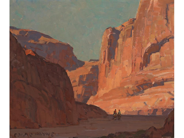 Edgar Payne (1883-1947) Canyon del Muerto 20 x 24in