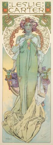 Alphonse Mucha (Czech, 1860-1939); Leslie Carter;