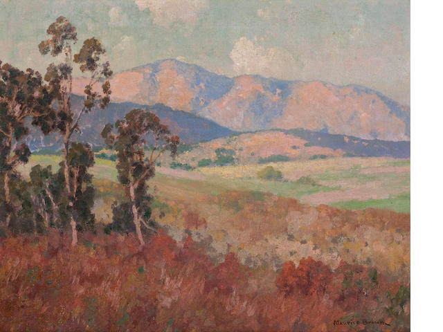 Maurice Braun (American, 1877-1941) Sunlit Hills 16 x 20in