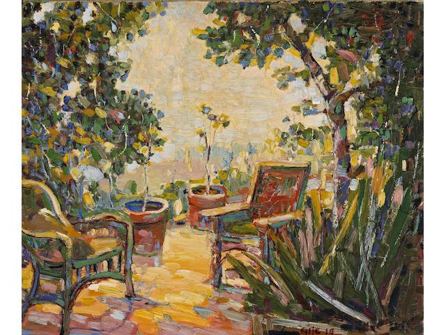 Selden Connor Gile (American, 1877-1947) The Garden, 1919 18 x 22in