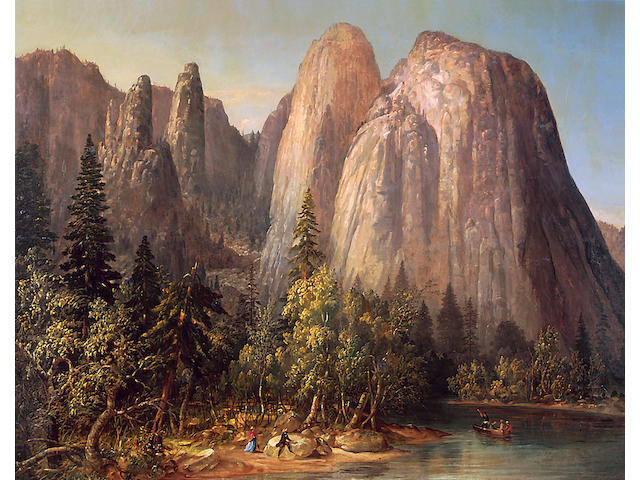 William Smith Jewett Jupiter's Spires, Yosemite Valley, 1861