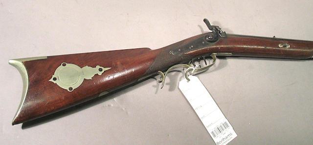An American half-stock percussion rifle