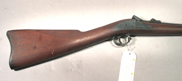 A U.S. Model 1879 Trapdoor Springfield rifle