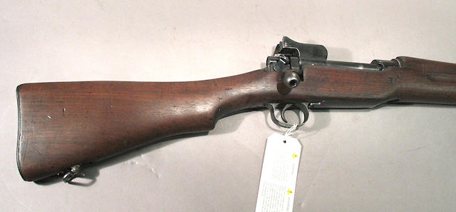 A U.S. Eddystone Model of 1917 bolt action rifle