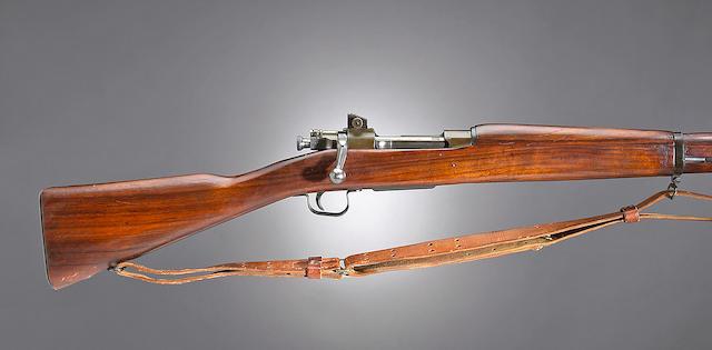 A U.S. Remington Model 03-A3 bolt action rifle