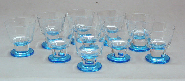 An assembled grouping of American brilliant cut glass, Lalique, Val St. Lambert, Daum and various glass tableware
