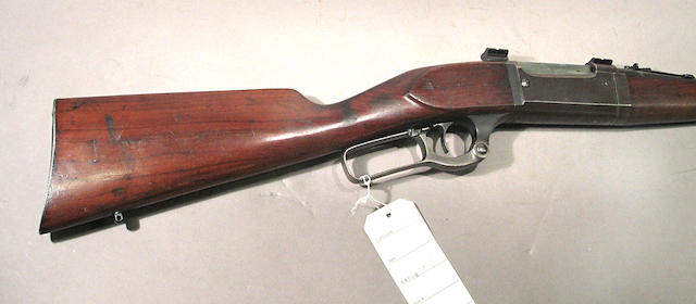 A .22 High Power Savage Model 99F Featherweight lever action rifle