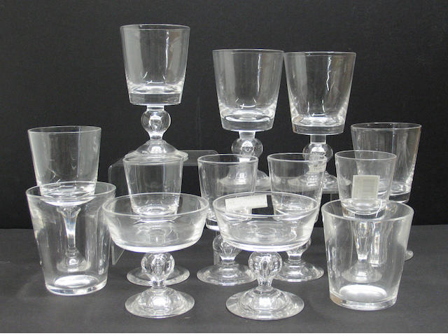 A suite of Steuben glass in pattern 7926