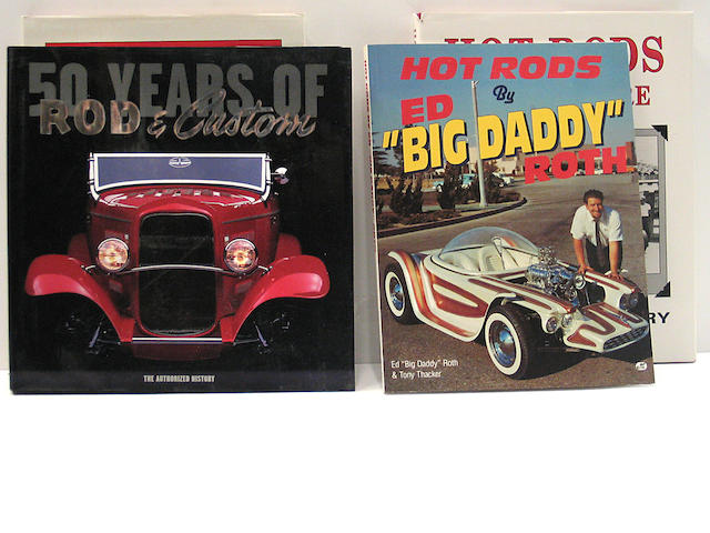 A quantity of Hot Rod, Custom and Movie car books,