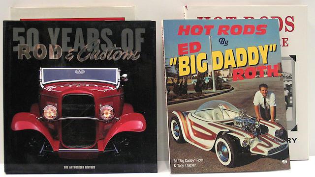 A quantity of Hot Rod, Custom and Movie car books,