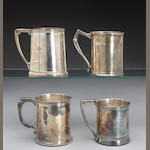 Collection of Four Silver Cups by Gorham and Whiting Mfg. Co.