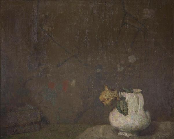 Hovsep Pushman (American, 1877-1966) Souvenier des Printemps 15 1/4 x 18 3/4in