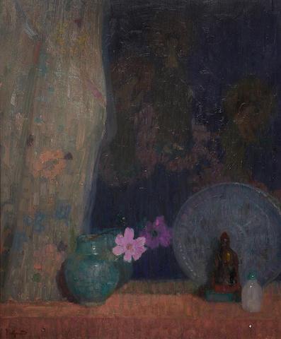 Hovsep Pushman (American, 1877-1966) Sacred Treasures 32 x 26in