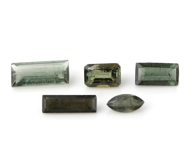 Miscellaneous Group of Green Stones