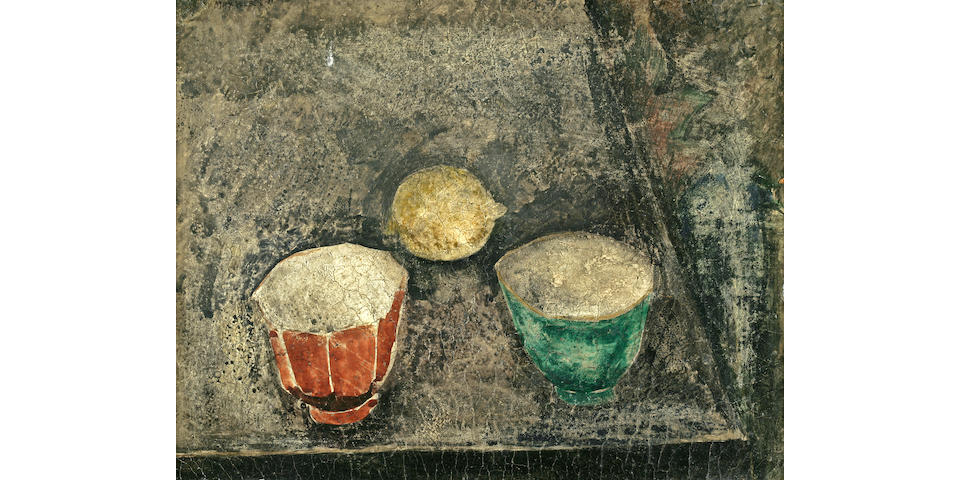 Max Weber (Polish, 1881-1961) Chinese Cups, 1911 8 3/8 x 10 3/4in