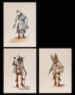 Peter Shelton (Hoyesva): seven gouaches