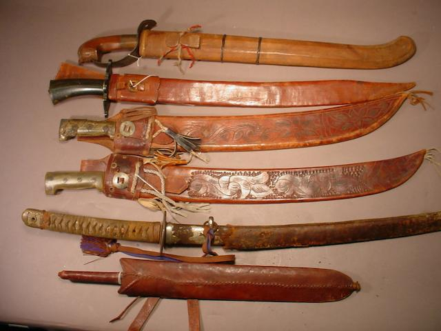 A lot of six edged weapons