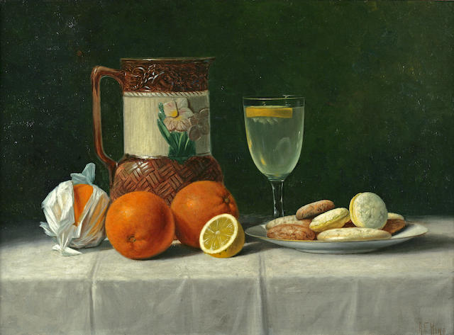 Albert Francis King (American, 1854-1945) Still Life with Oranges 16 x 22in
