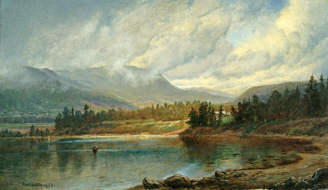 Edmund Darch Lewis (American, 1835-1910) Afternoon on the Lake, New Hampshire, 1862 11 1/2 x 19 1/2in