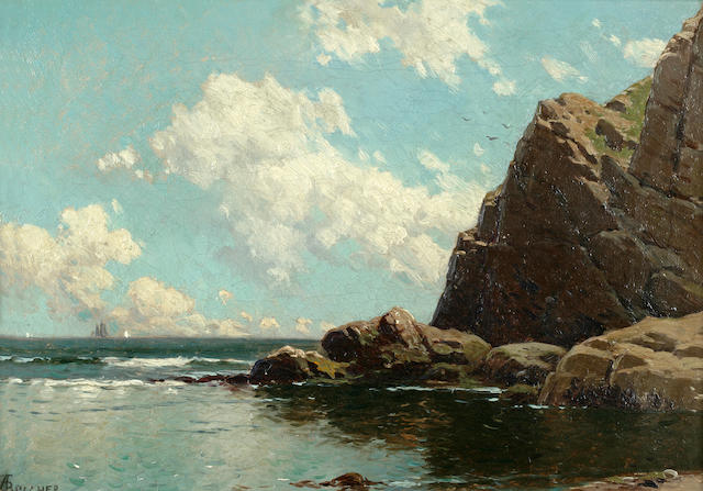 Alfred Thompson Bricher (American, 1837-1908) Maine Seascape 10 x 14in
