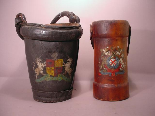 A lot of two English fire buckets