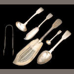 Regency to Victorian Silver Fiddle Variation Flatware Group