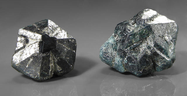 Two Chrysoberyls, (var Alexandrite)
